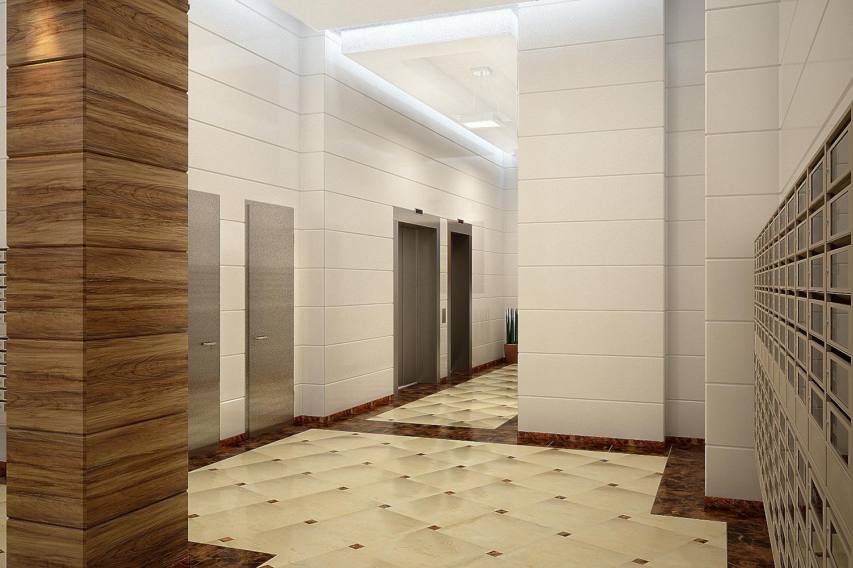 Концепция входной группы первого этажа ЖК