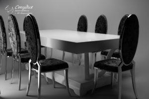 Моделирование и визуализация обеденного стола