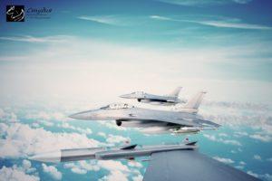 Моделирование и визуализация полета группы самолетов.