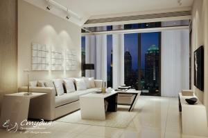 Дизайн гостиной выполненный в стиле