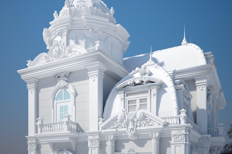 Моделирование классического здания
