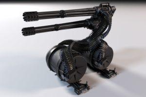 моделирование пулемета